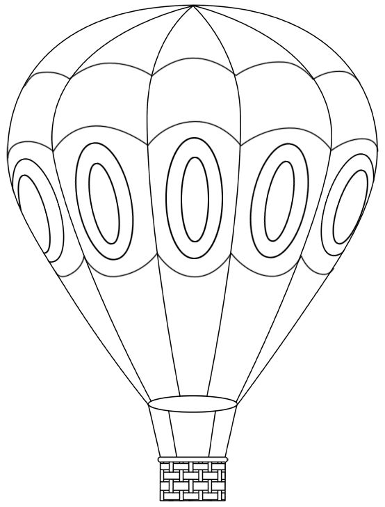 Hot Air Balloon Coloring Pages Kids Picture To Color Colors Hot ... | 728x554