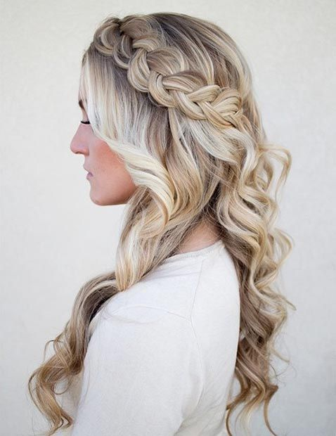 Best 25 Curly Braided Hairstyles Ideas On Pinterest Half
