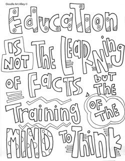 education is not the learning of facts but the training of