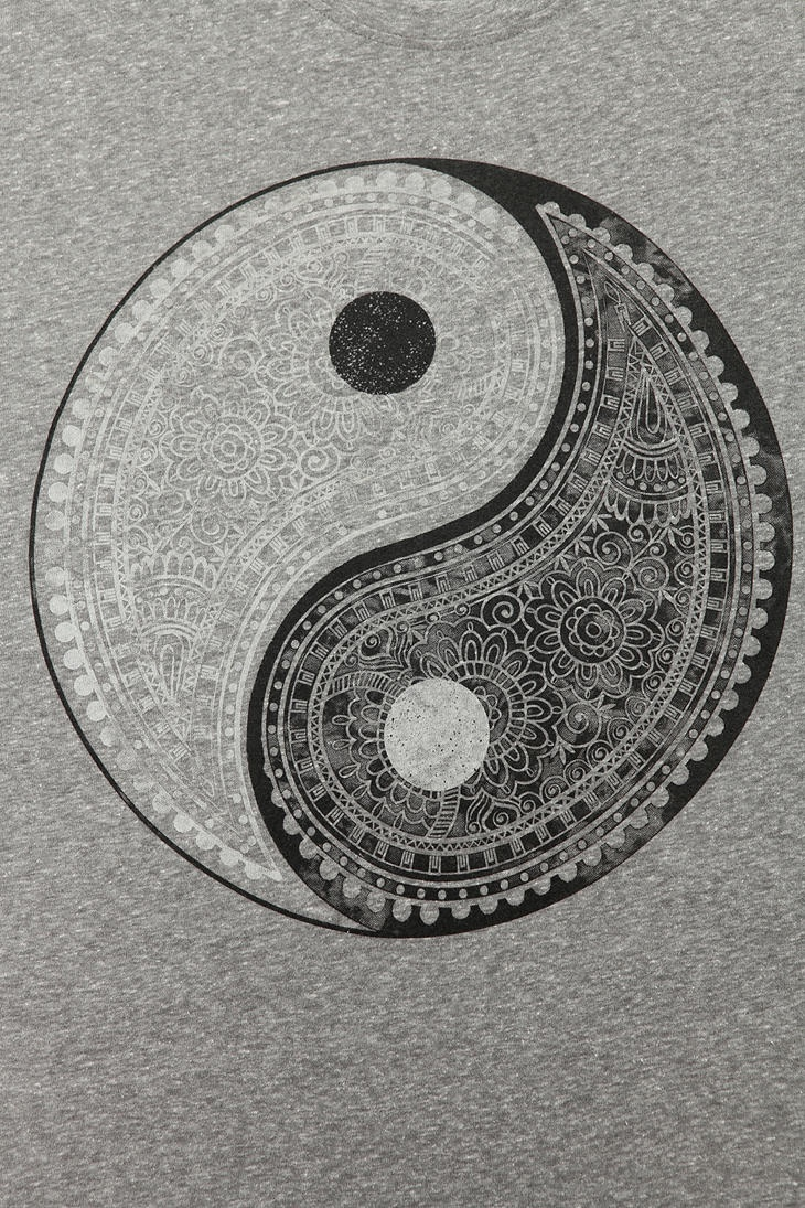 Truly Madly Deeply Paisley Yin Yang Tee Tattoos And