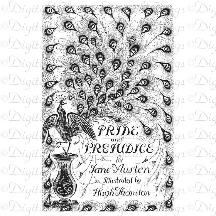 Jane Austen Pride and Prejudice Book Peacock Wall Decor