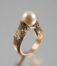25+ best ideas about Pearl rings on Pinterest | Gold pearl ...