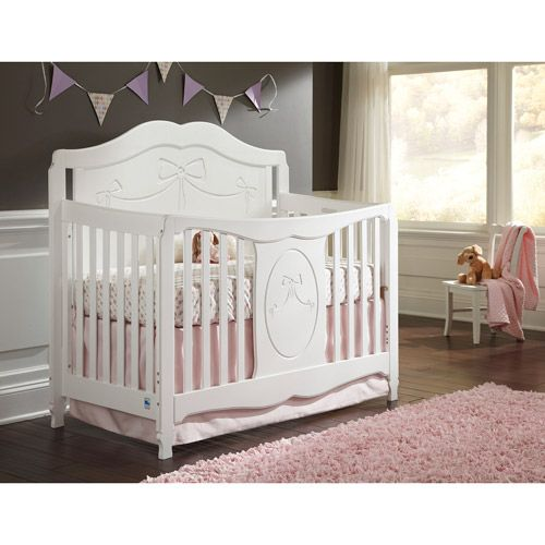 Storkcraft Princess 4 In 1 Convertible Crib White