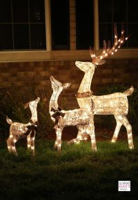 Light Up Reindeer Outdoor Decorations | Christmas ...