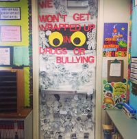 Red ribbon week door decorating contest! First place ...
