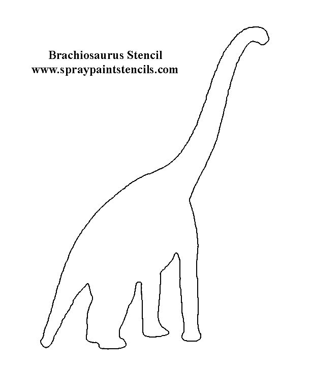 17 Best ideas about Dinosaur Stencil on Pinterest