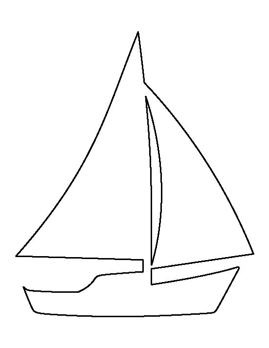 Sailboat pattern. Use the printable outline for crafts