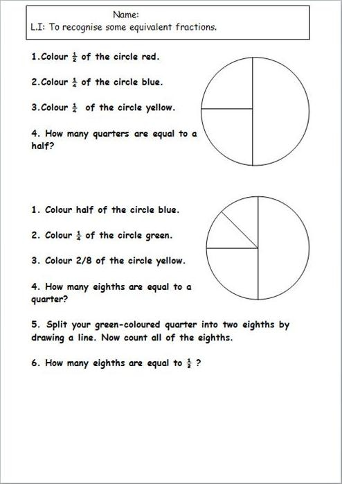105 Best Images About Math Equivalent Fractions On