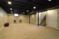 I want to paint our basement ceiling black......Yes I do ...