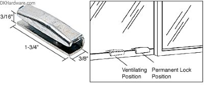 The CRL Snap-On Vent lock provides a permanent stop