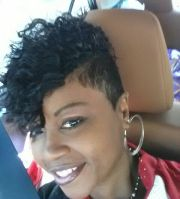 short curly quick weave shaved