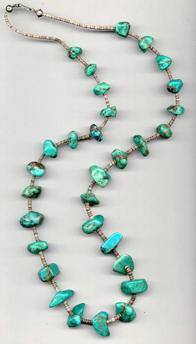 American Indian Turquoise jewelry,necklace,This Vintage Native American Jewelry Turquoise necklace was