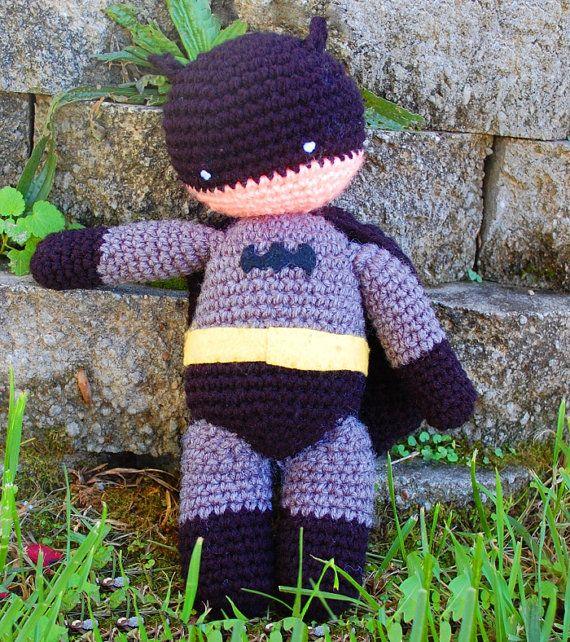 My Hero Batman PDF Crochet Toy Pattern by innerchildcrochet