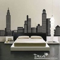 City Skyline Decal - City Buildings Skyline - Vinyl Wall ...