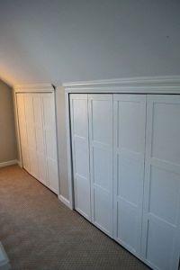 Board and Batten Trim on Closet | attic bedroom - knee ...