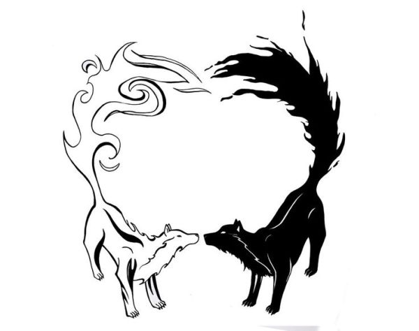 20 Wolf Yin Yang Couples Tattoos Ideas And Designs