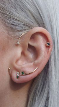 25+ best ideas about Multiple ear piercings on Pinterest