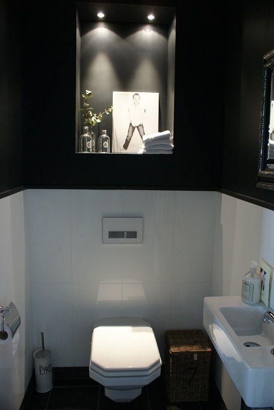 wc zwart wit behang  Google zoeken  Interior design