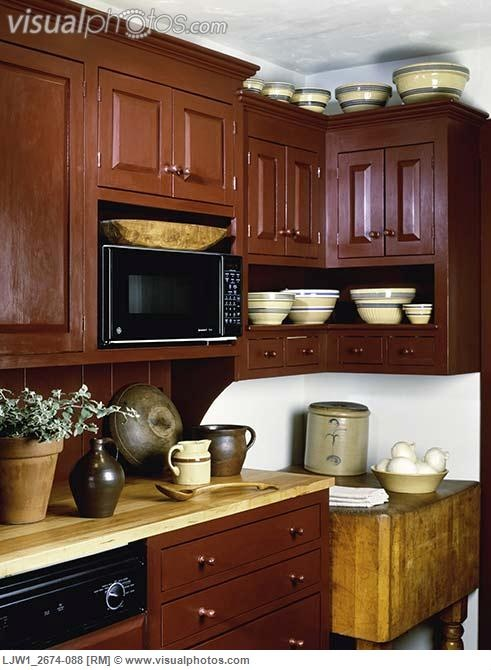 KITCHEN contemporary period country antique pottery and