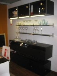 Besta Blk Brn Wall Cabinet as Bar | Interior Ideas ...