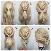 thick hair updo ideas