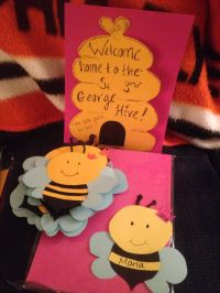 Bumble bee door decs for a beyonce themed semester