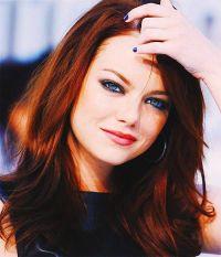Emma Stone - hair color dark red | Get yo hair did ...