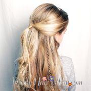 princess twist braid hairstyle-pretty