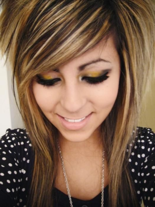 25 Best Ideas About Brown Scene Hair On Pinterest Emo Hair