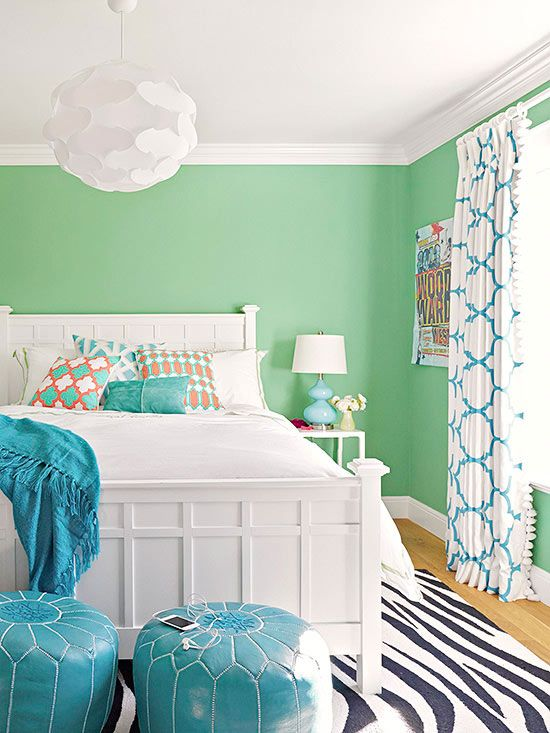 25+ best ideas about Bright Colored Bedrooms on Pinterest