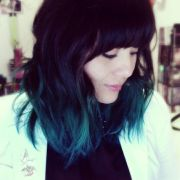 teal-aqua-blue ombr hair