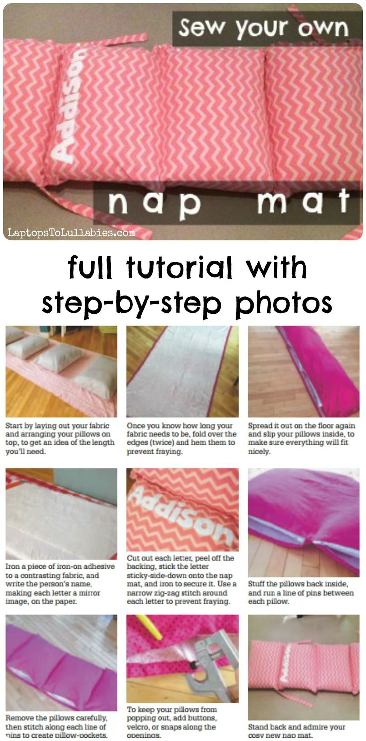 How to sew your own nap mat  Full tutorial  My
