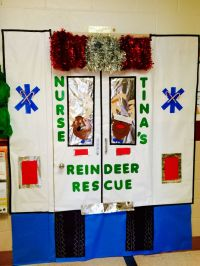 Christmas Door Decorations For Hospital - Halloween F