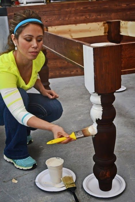 Really good tutorial — How To Paint Furniture | Old World Chippy Distressed Paint Finish | Ana White – Homemaker