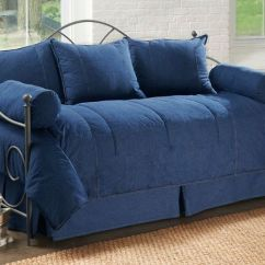 Unique Chairs For Living Room Tables Ikea 5pc Denim Daybed Cover Set | Covers And Daybeds