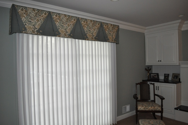 A smart valance with ADOWrap  sheers wrapped around