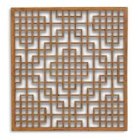 Chinese antique lattice window panel in poplar wood, from ...