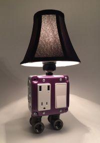 Purple Industrial lamp USB Charging station - Lighting ...