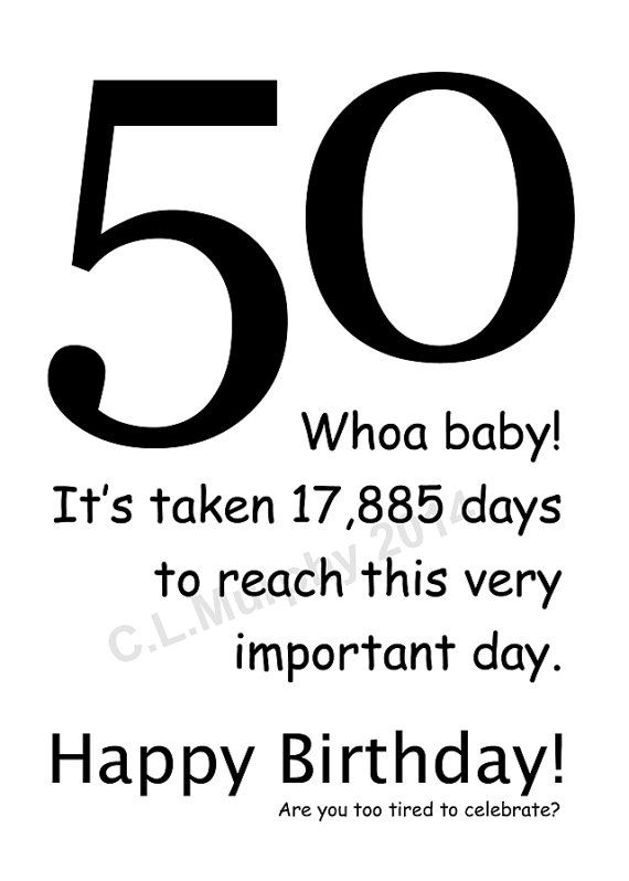 DOWNLOAD, 50th Birthday, Turning 50, Happy Birthday
