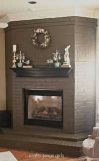 25+ best ideas about Black Brick Fireplace on Pinterest ...