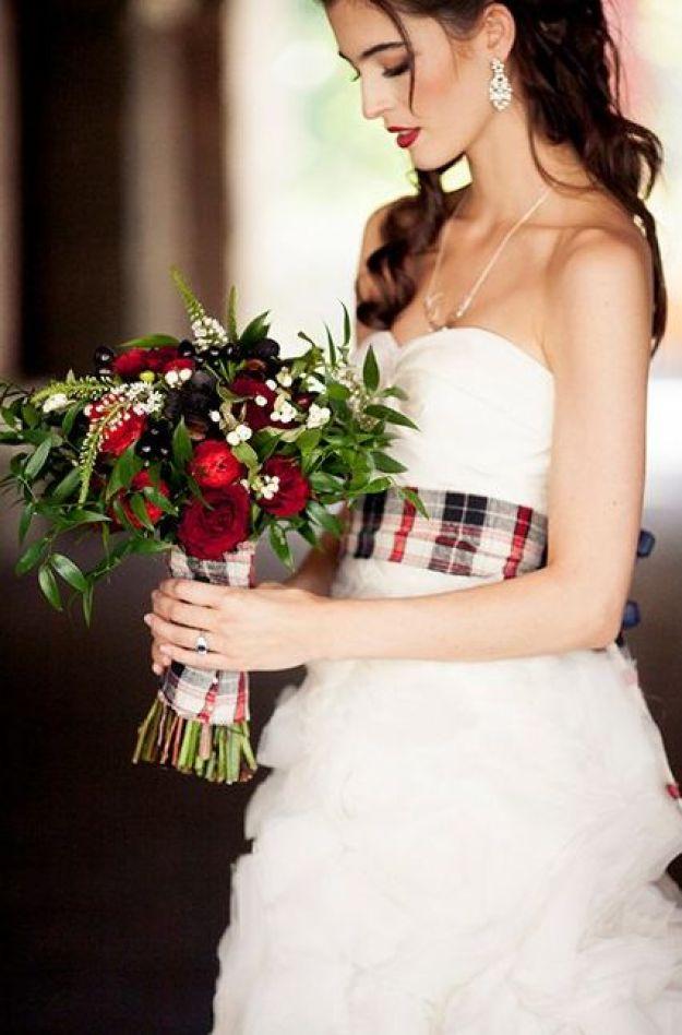 Pretty Plaid Holiday Inspired Wedding Ideas:
