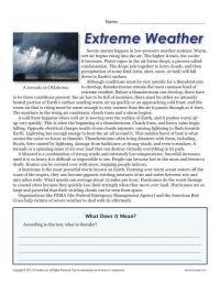 Sixth Grade Reading Comprehension Worksheet | Extreme ...