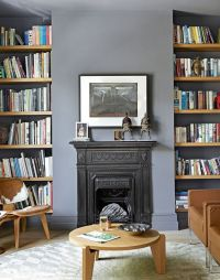 Grey Living Room with Alcove Shelving | Interiors ...