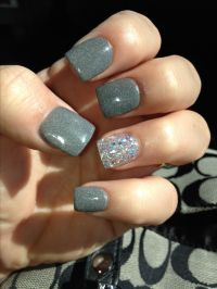 Grey Nails with accent nail. | Nails | Pinterest ...