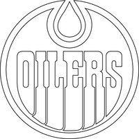 Edmonton Oilers Logo Outline Vector by broken-bison