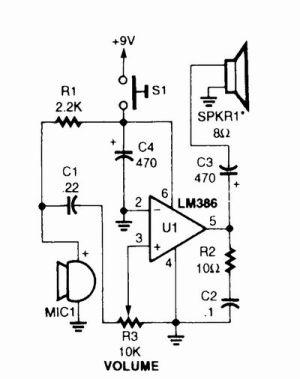 Simple Megaphone Circuit Diagram | Electronic Circuits