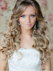 simple long bridal hairstyles