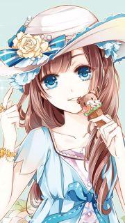 # kawaii anime girl #brown hair