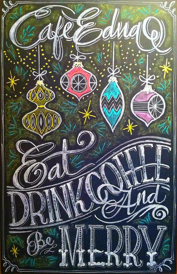 Christmas Chalk design by Carolina Ro