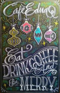 Christmas Chalk design by Carolina Ro